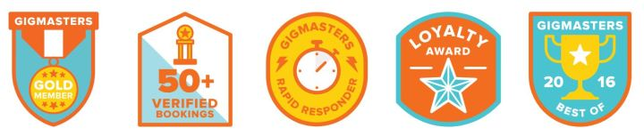 Gigmasters Badges