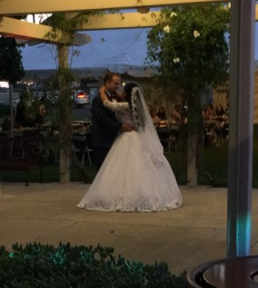 The bride and groom's first dance!